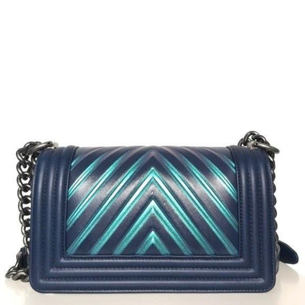580ede603674b2 Chanel Painted Chevron Iridescent Small Boy Bag. Brand new. 24 series.  Limited edition. Box and dustbag included. Made in Italy.