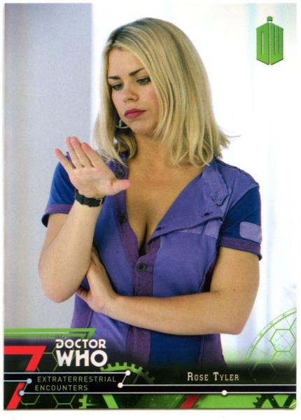 C2008 Who Extraterrestrial Encounters 2016 Topps Trade Card Rose Tyler #18 Dr