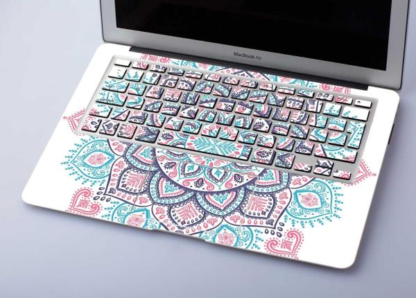 Boho style macbook pro 13 15 vinyl laptop totem decal macbook 12 mandala sticker