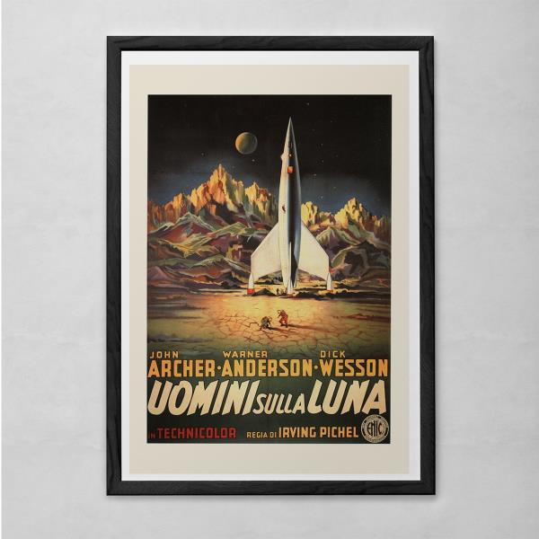Rocket Ship Movie Poster Cla B-Movie Poster CLASSIC SCIENCE FICTION Wall Art