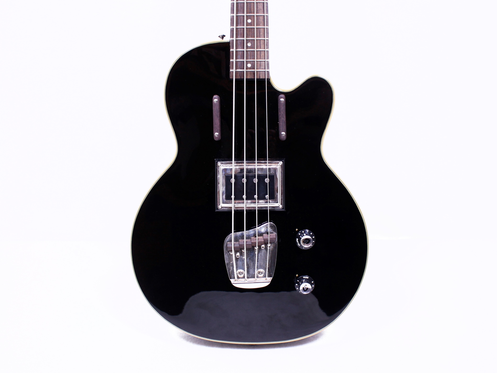 Guild M-85 4 String Black Thick Body Electric Bass Guitar