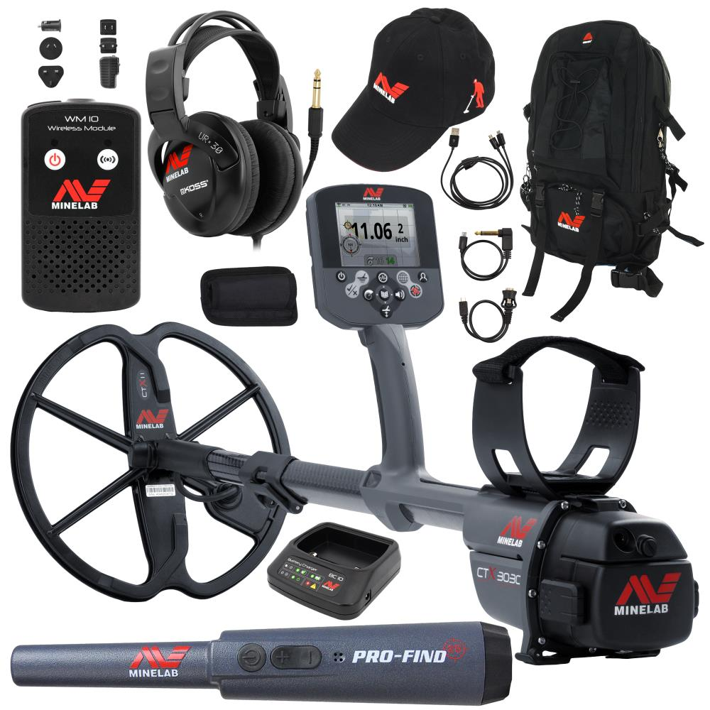 Minelab Ctx 3030 Metal Detector With Hat Pro Find 25 And Backpack Module