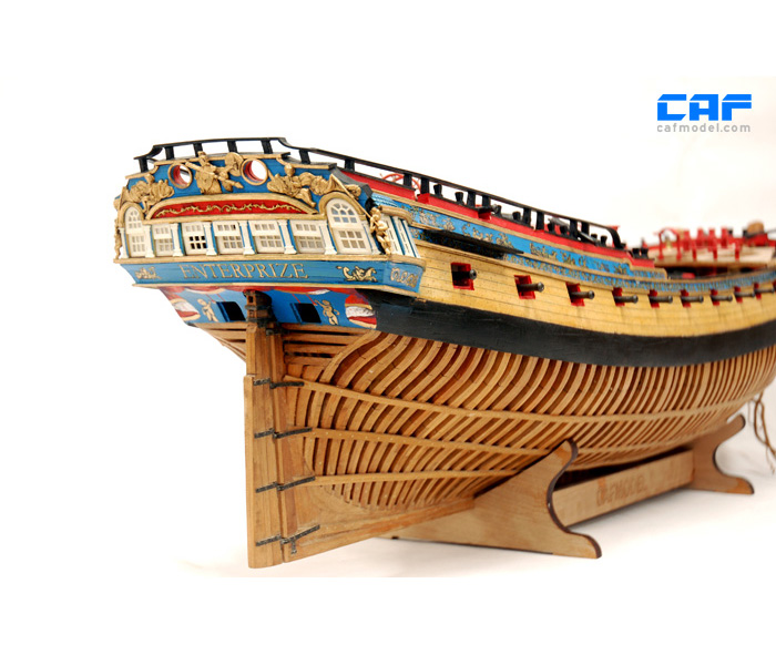 Details About Hms Enterprize 74 Gun Pof Scale 1 48 840 Mm 33 Wood Ship Model Kit