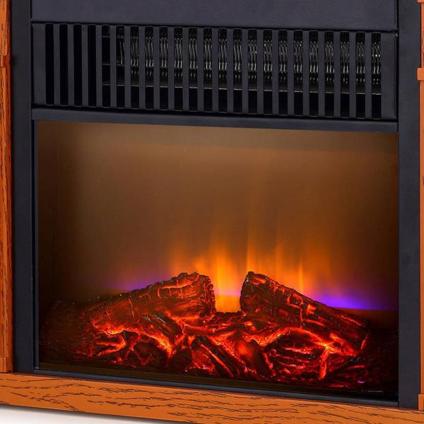 ELECTRIC FIREPLACE HEATER 1200W Infrared Small Room Space Heat Realistic Flames | Home & Garden