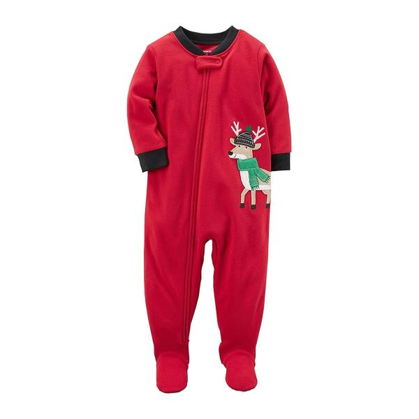 f86d4d7e138c Carter s Red One Piece Fleece Footed Pajama for Baby Boys ...