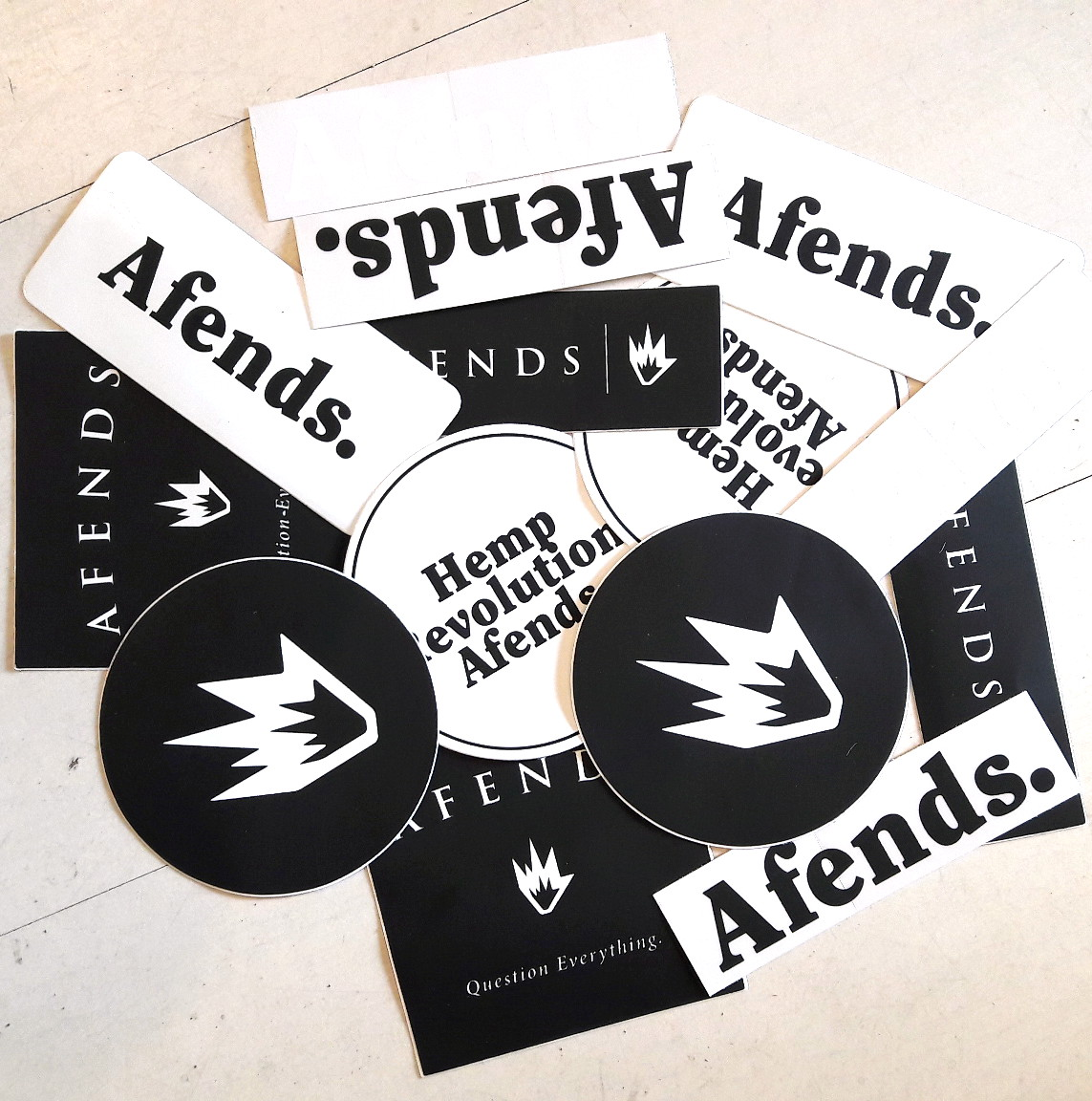 Afends Stickers 5 Pack Assorted decal Sticker Skate Surf Band Tattoo FREE POST New