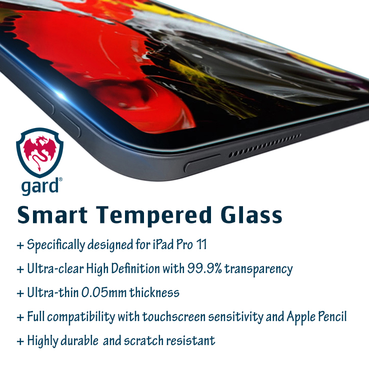 2 x gard® Tempered Glass Screen Protector For New Apple iPad Pro 11