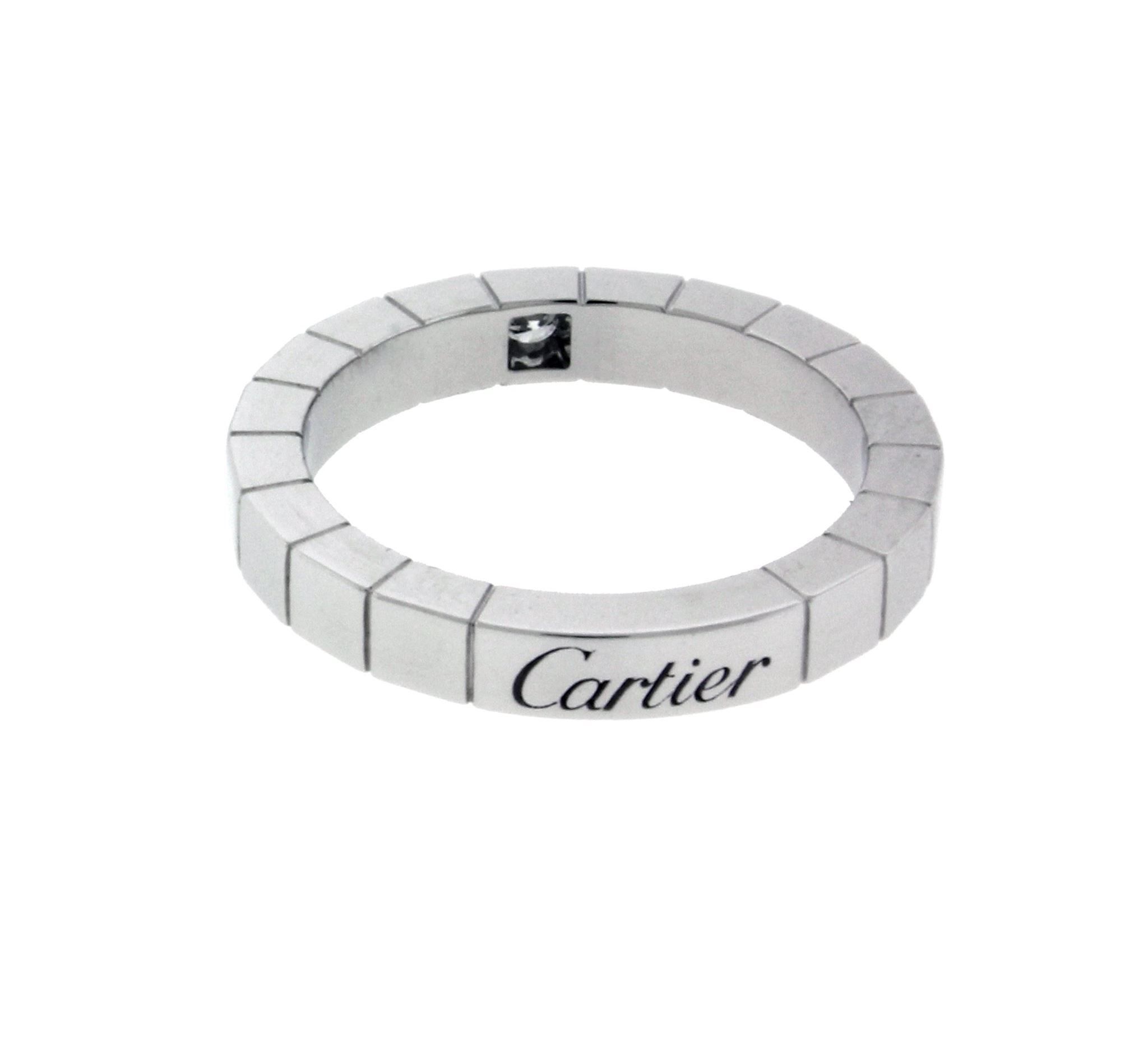 63b2facac8917 Details about Cartier Lanieres diamond 18k white gold band ring size 50 (US  5.25)