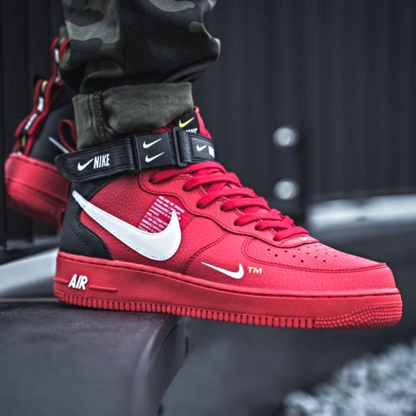 6337af8825203 Nike Air Force 1 Mid 07 LV8 Utility Red Sz 7-14 Men shoes 804609-605 Bred  Jordan. 100% AUTHENTIC OR MONEY BACK GUARANTEED
