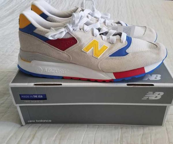 low priced 765d0 dc5e5 Details about NEW 11.5 12 NEW BALANCE FOR J CREW 998 BEACH BALL SNEAKERS  SHOES MADE IN USA