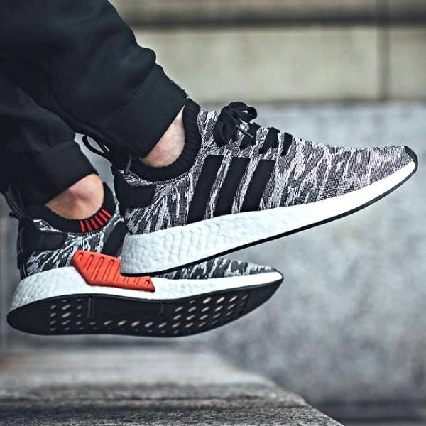 Authentic Cheap Adidas NMD R1 Mesh Black Red