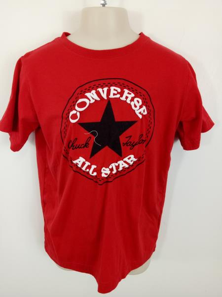Details about BOYS CONVERSE SMART T SHIRT CREW NECK SHORT SLEEVES TOP RED 8 10 YEARS