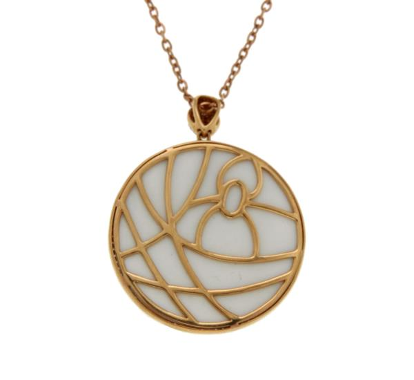 Luxo Jewelry News Letter - Premium Jewelry - 1.45 CT Diamonds 18K Rose Gold Tow Side Spider Pendant Necklace Size 18