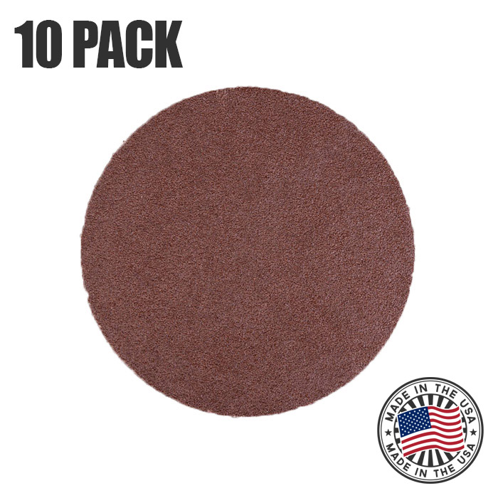 600 Grit 6 Inch Gold Peel and Stick Adhesive Backed PSA Sanding Discs with Tabs 100 Pack