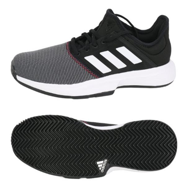Almacén Desempacando Resplandor  Adidas Men Game Court Tennis Shoes Running Black Training Sneakers Shoe  CG6334 | eBay