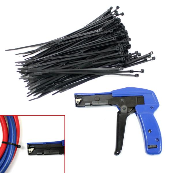 Zip Tie Gun >> Industrial Zip Tie Gun Tension Fastening Tool 1 Motion Tie Cut Off