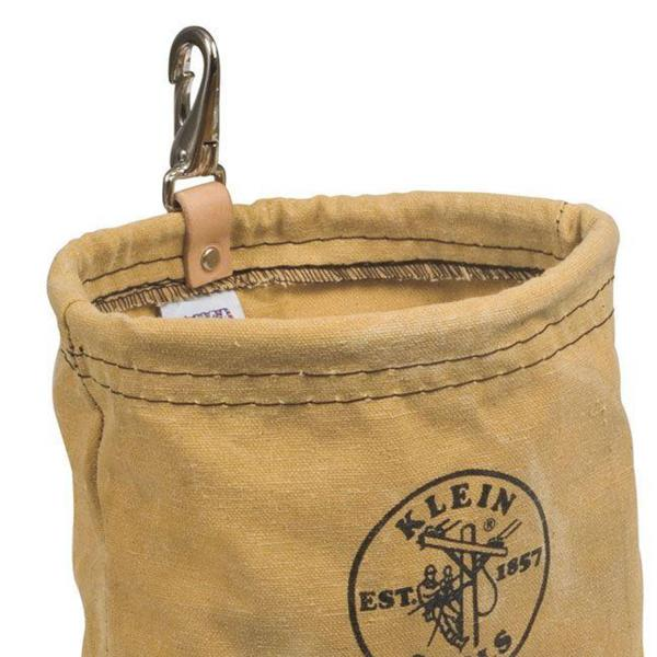 KLEIN TOOLS CANVAS POUCH SNAP On Belt Water Repellant Utility Tool Storage Bag