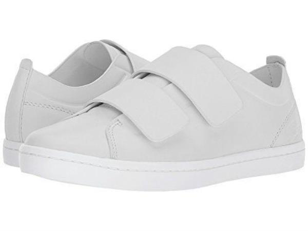 3d3b492d499e Details about Lacoste Women s Straightset Strap 118 1 Caw Sneaker Light  Grey White Sneakers