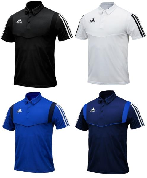 Adidas Men TIRO 19 POLO S S Shirts Training Black White Tee GYM ... 3a48007f1518a