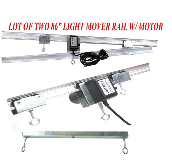 Lot Two 83 Quot Light Track Rail Motor Grow Light Mover 4