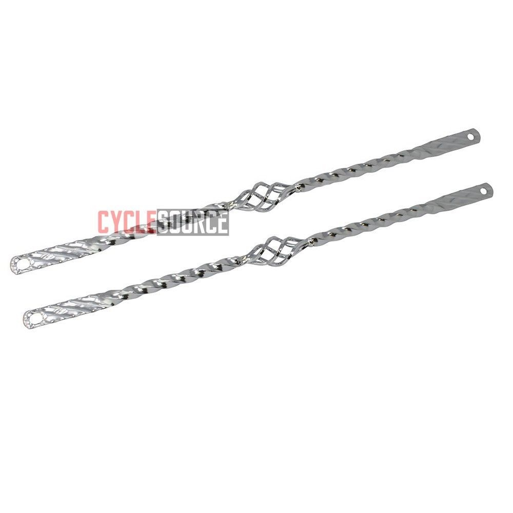 """LOWRIDER BlKE CHROME 20/"""" TRIPLE TWlSTED SPRlNG Fork Support Bars Cruiser BlCYCLE"""