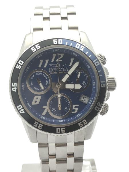 cc0813560 Details about Invicta Men's Blue Dial Chronograph Stainless Steel Case and  Bracelet Watch