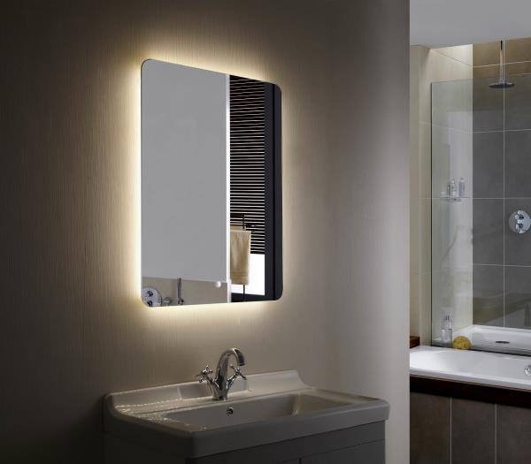 Bathroom Mirror Backlit bathroom mirror led backlit mirror - illuminated led bathroom