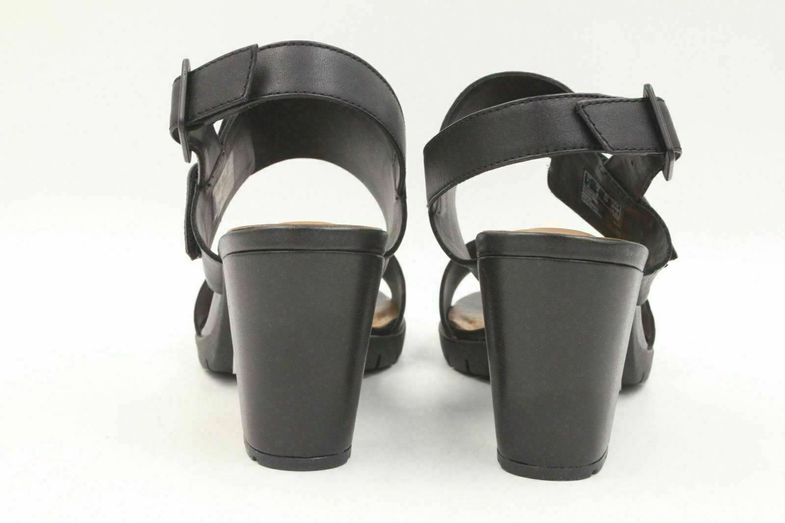 739b295d776 New With Box. CLARKS Kurtley Shine Women Block Heel Adjustable Sandals Size  8M Black Leather. Brand  CLARKS
