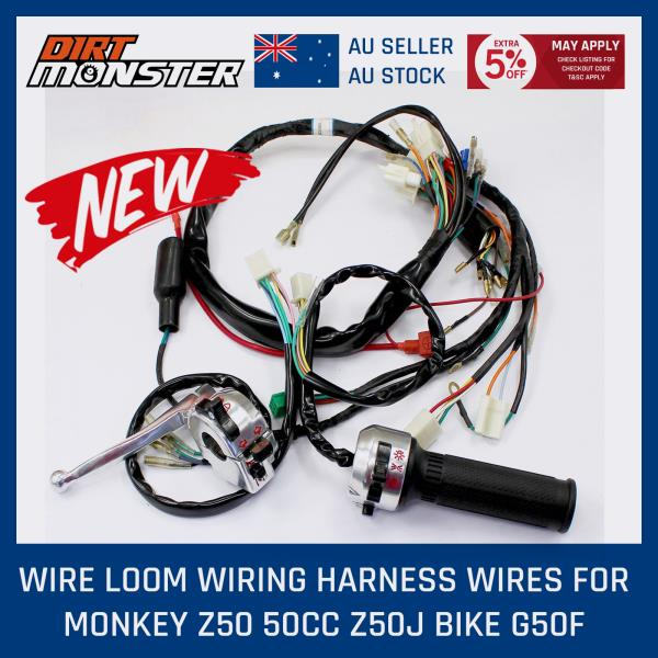 Details about FOR HONDA Z50 50cc MONKEY GORILLA WIRING HARNESS EMBLY on