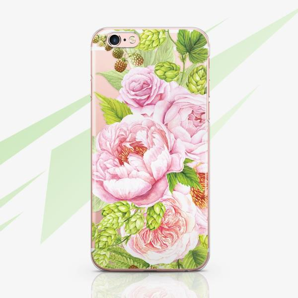 best cheap e73b0 c4688 Details about Pink Roses iPhone X 7 8 Plus Silicone Cover Floral iPhone XR  XS Max Rubber Case