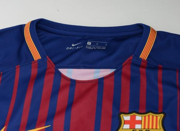 Nike 17 18 FC Barcelona Home S S Shirts Blue Red Soccer FCB Jersey ... 6609157c124d2