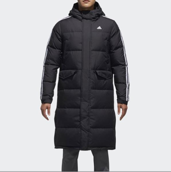 117e096eb Details about Adidas Men 3STR Long Down Coat Padded Jacket Black Warmer Top  Parka Coat DT7920