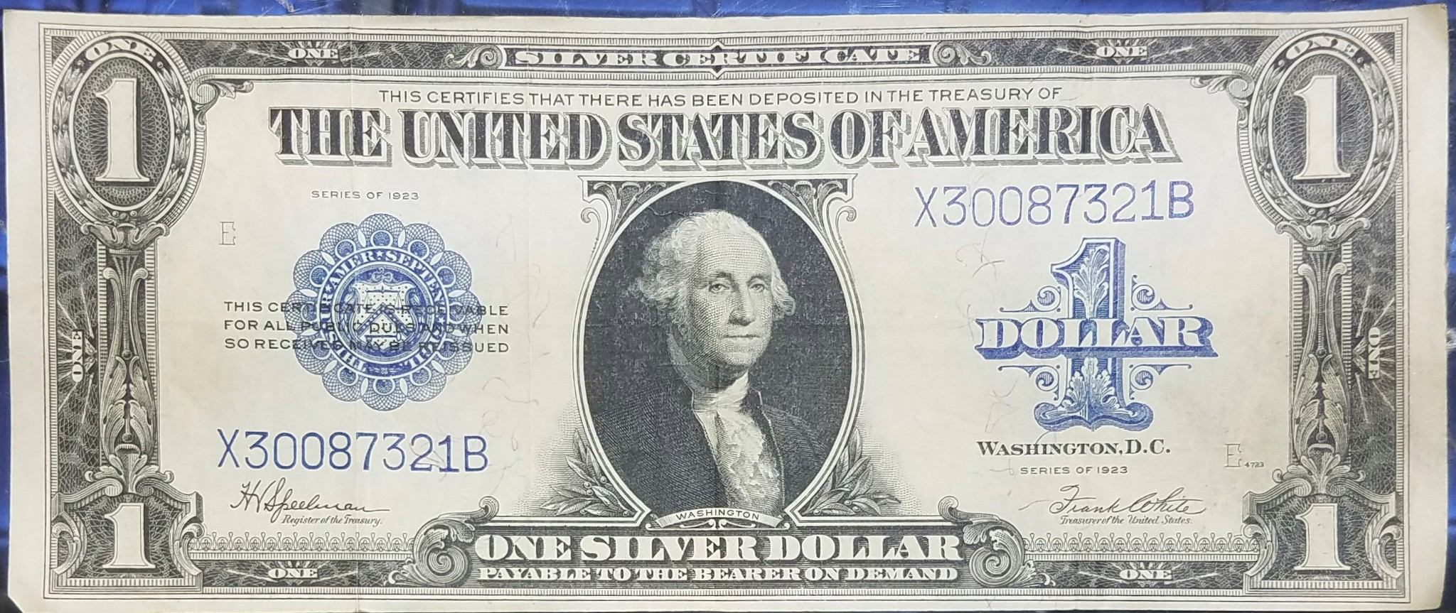 Series Of 1923 Blue Seal One Dollar 1 Large Us Silver Eagle