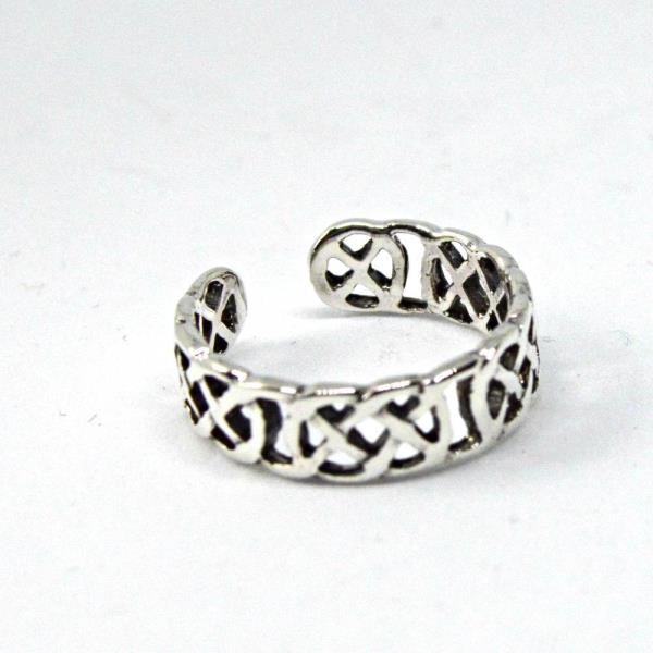 Fashion Jewelry Sterling Silver Celtic Knot Design Adjustable Toe Ring~wicca~pagan~jewellery #1