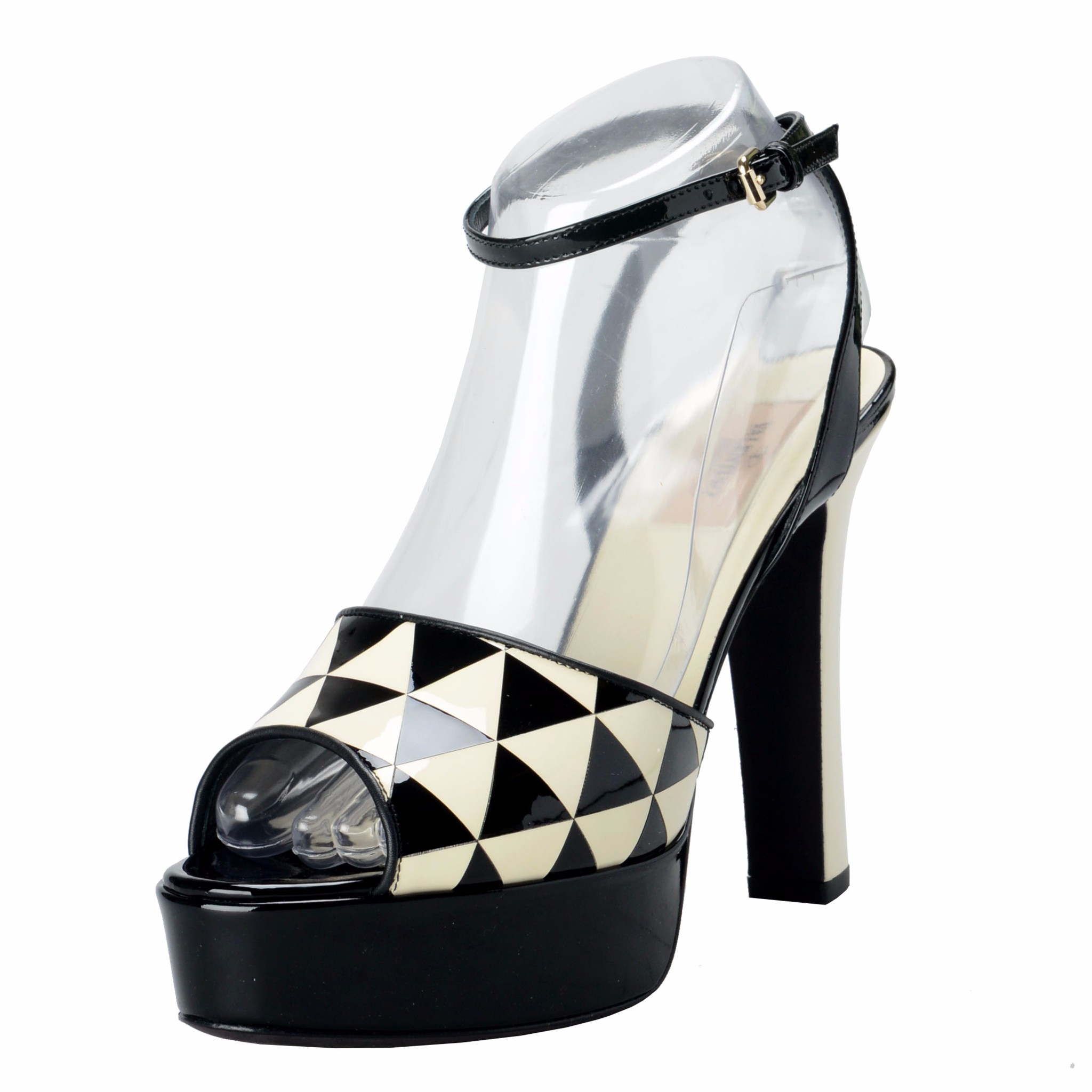 99bf8d896c2 Details about Valentino Garavani Women s Patent Leather Slingbacks High  Heels Open Toe Shoes