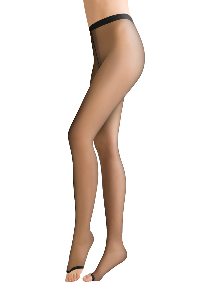 FIORE EVELINE TOELESS TIGHTS PANTYHOSE 2 COLORS BLACK AND TAN 3 SIZES
