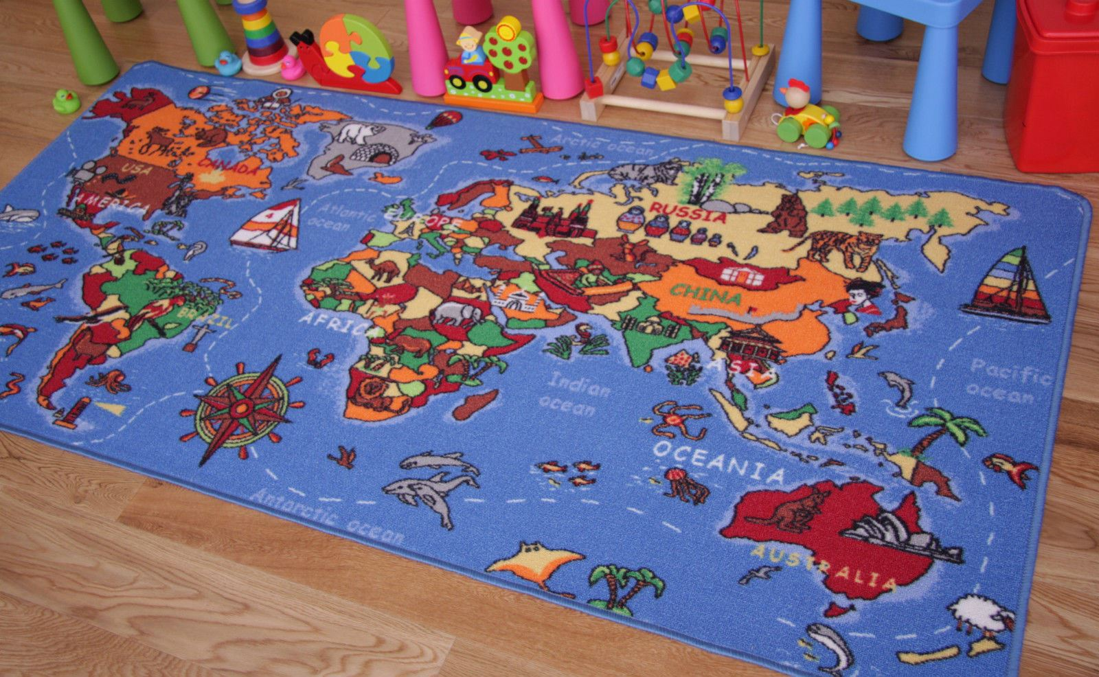 Kids Play Mats Roads Farm Letters Children Carpet