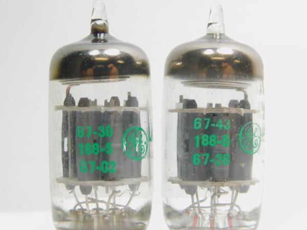 Amplitrex AT-1000 Matched Pair JAN Philips NOS Low Noise 12AX7 12AX7WA ECC83