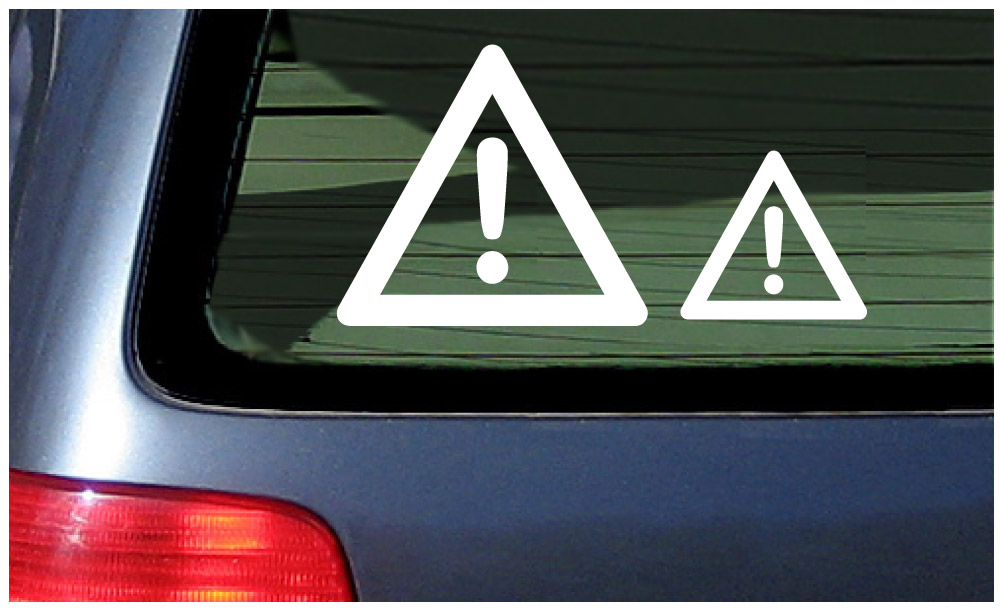 e1ff779873 Warning Symbol Sticker Vinyl Decal Car Window Danger International Caution