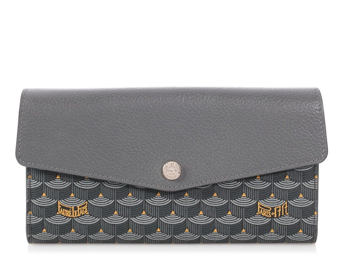 d07a1f2e474abc FAURE LE PAGE Gray Rabat Wallet on a Chain Clutch Bag Purse | eBay