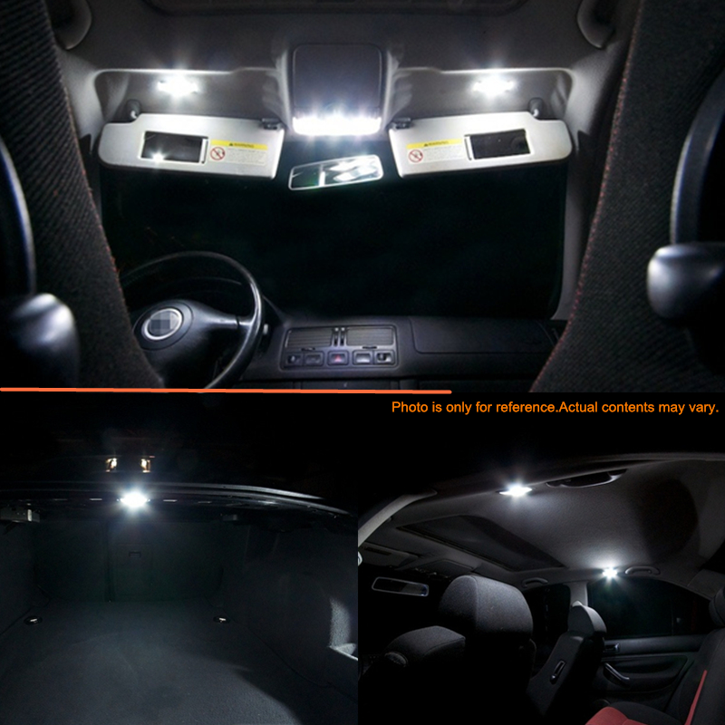 11 Pcs Xenon White Led Lights Interior Package Kit For