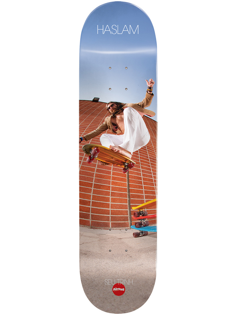 Almost Skateboard Deck Haslam x Sue Trinh 8 FREE GRIP FREE POST New