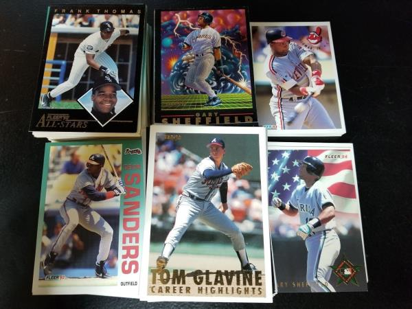 Details About Fleer Baseball Cards 83849091929394 406ct Stars Rookies Commons