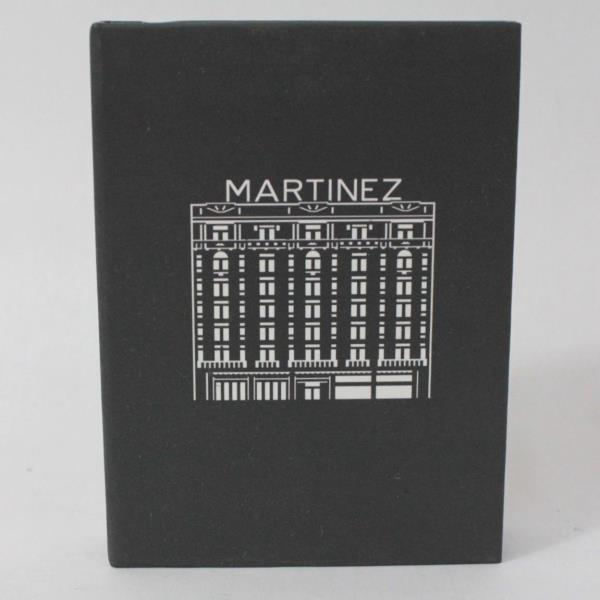 "Lot of 2 Grey Cannes Hotel Martinez Notepads w// Tabs 2 3//4/"" x 4/"""