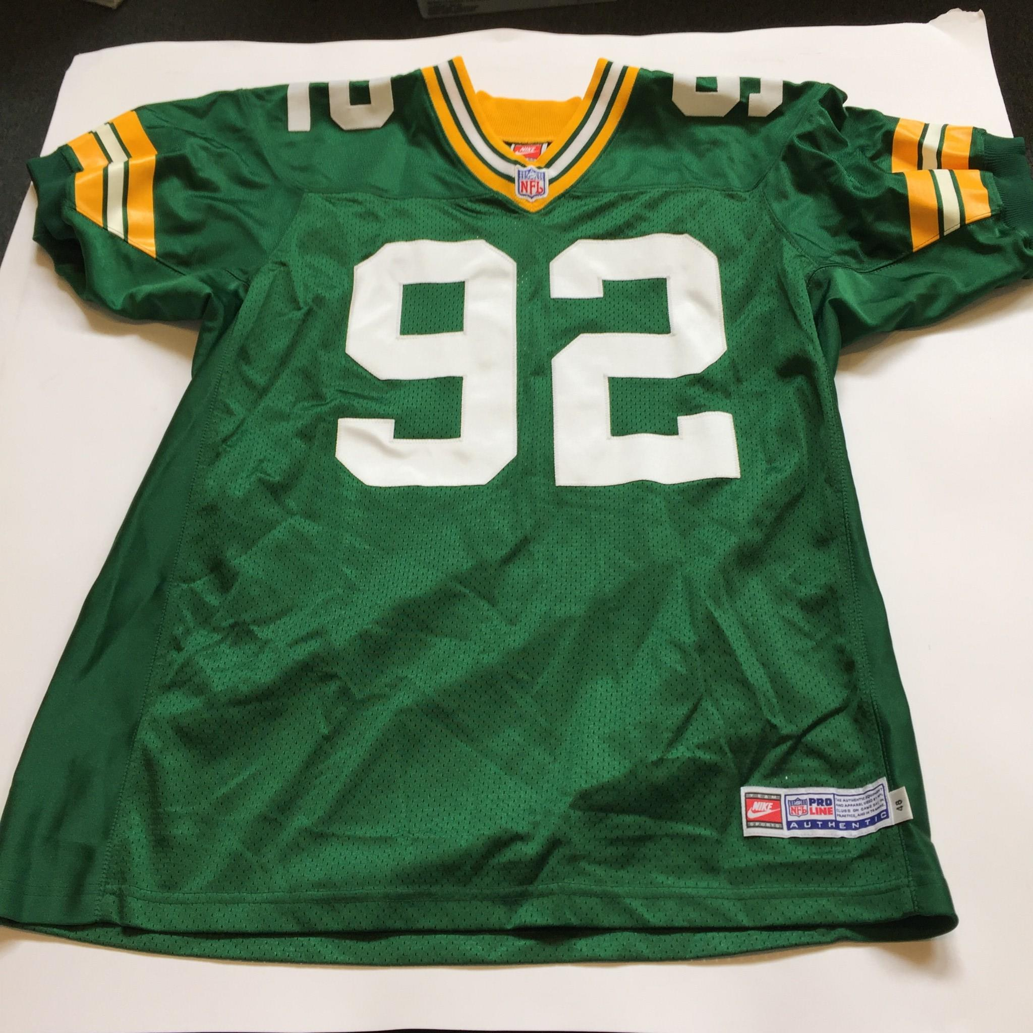 more photos ef565 eada7 Details about Reggie White Signed Authentic Nike Green Bay Packers Game  Model Jersey JSA COA