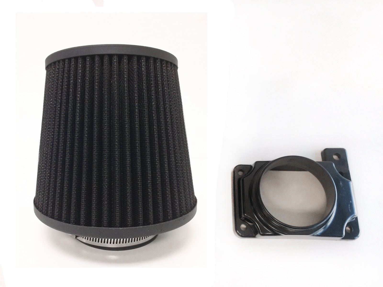 """BLACK 6 Inches 6/"""" 152mm Inlet Cold Air Intake Cone TRUCK FILTER Mitsubishi"""