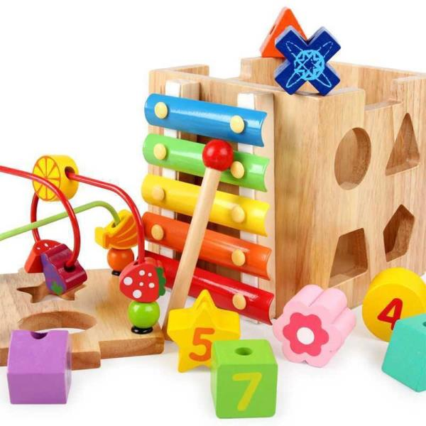 Learning Interactive Learning Activity Cube Toy WOOD TOYS - Kids ...