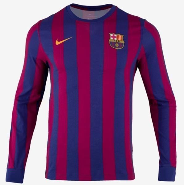 Nike Men FC Barcelona L S T-Shirts Soccer Blue Red FCB Tee Top ... e8a72259e