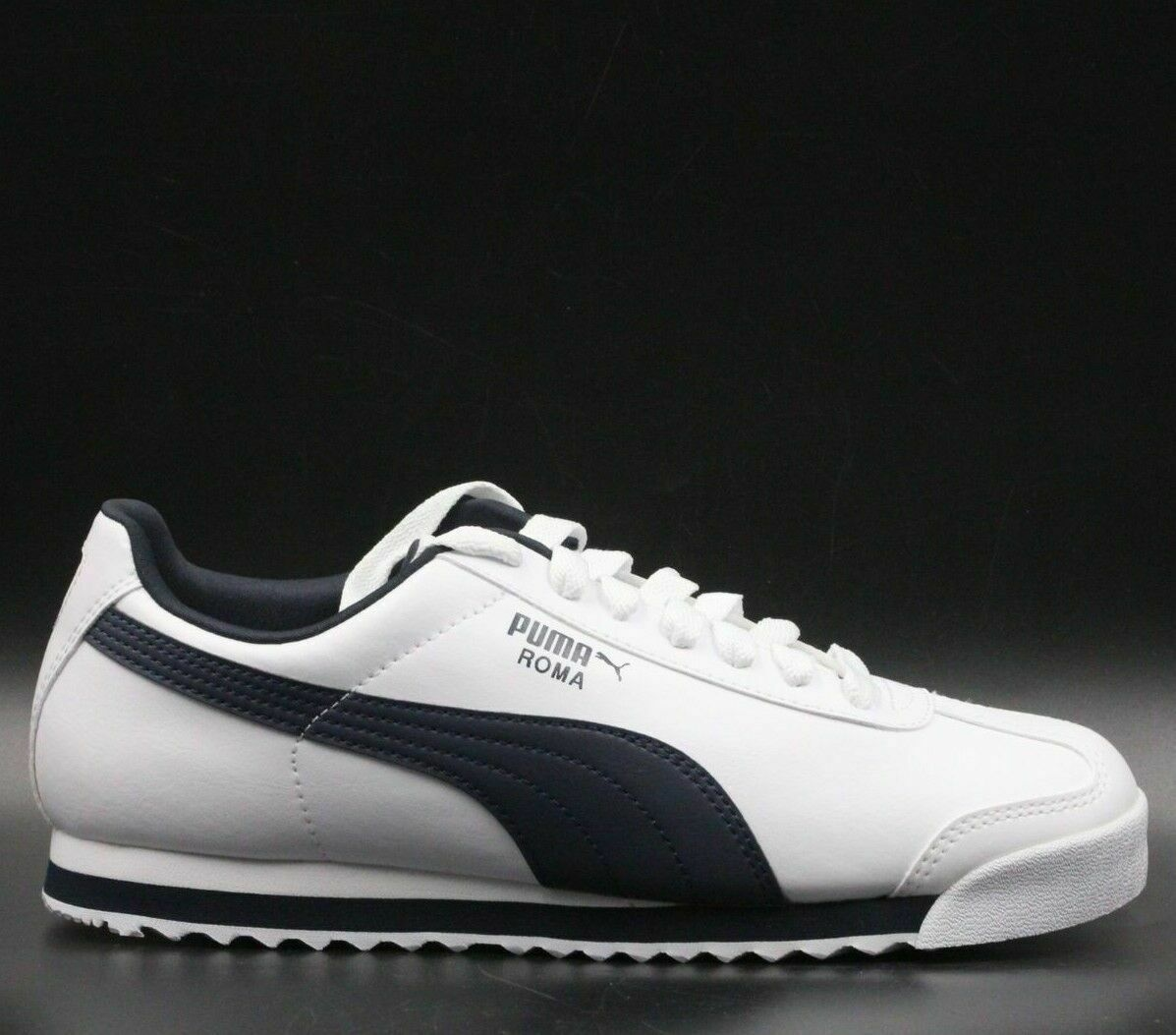 43c911c20 PUMA Roma Basic Sneaker Men Casual Sneakers Size US 8 White New-Navy 353572- 12
