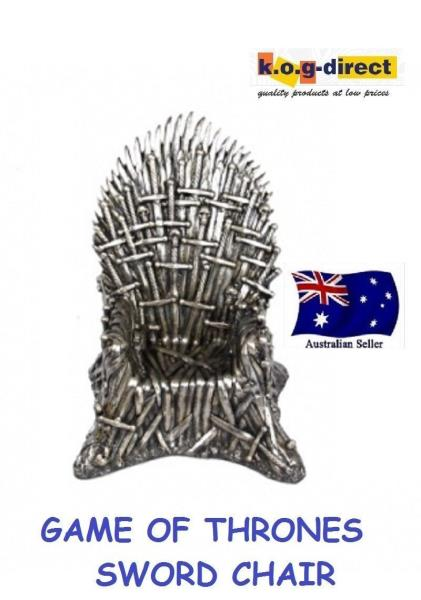 GAME OF THRONES CHAIR BRONZED THOUSAND SWORDS IRON THRONE 22CM NEW